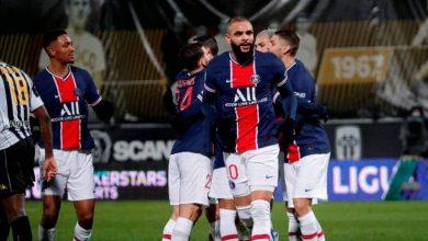 صورة أهداف مباراة باريس سان جيرمان و إنجيه (1-0) اليوم في الدوري الفرنسي