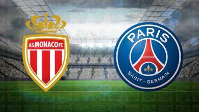 صورة القنوات المفتوحة الناقلة لمباراة باريس سان جيرمان وموناكو اليوم في الدوري الفرنسي