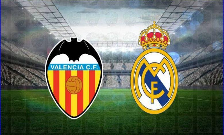 موعد ومعلق مباراة ريال مدريد وفالنسيا القادمة والقنوات الناقلة في الدوري الاسباني