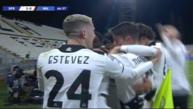 صورة أهداف مباراة ميلان وسبيزيا (0-2) اليوم في الدوري الايطالي