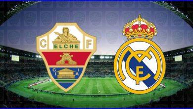 صورة القنوات المفتوحة الناقلة لمباراة ريال مدريد وإلتشي اليوم في الدوري الإسباني