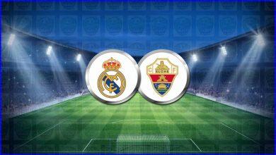 صورة موعد مباراة ريال مدريد وإلتشي القادمة والقنوات الناقلة في الدوري الاسباني