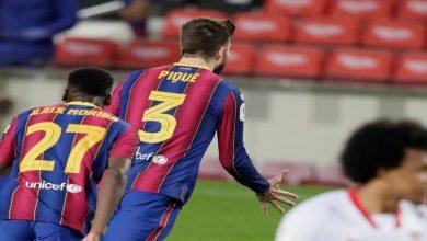 صورة أهداف مباراة برشلونة واشبيلية (3-0) اليوم في كأس ملك اسبانيا