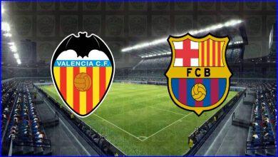 صورة القنوات المفتوحة الناقلة لمباراة برشلونة وفالنسيا اليوم في الدوري الاسباني
