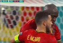 """صورة أهداف مباراة بلجيكا وفنلندا (2-0) اليوم في كأس الأمم الأوروبية """"يورو 2020"""""""