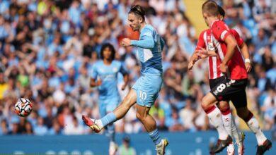 صورة نتيجة مباراة مانشستر سيتي وساوثهامتون اليوم في الدوري الإنجليزي