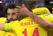 صورة هدف محمد صلاح اليوم مباراة ليفربول وأتلتيكو مدريد