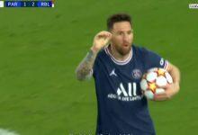 صورة هدف ليونيل ميسي اليوم  مباراة باريس سان جيرمان ولايبزيج