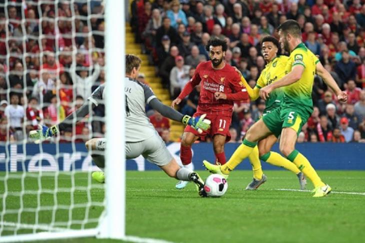 صورة نتيجة مباراة ليفربول ضد نورويتش سيتي : ليفربول يكتسح نورويتش و محمد صلاح يسجل