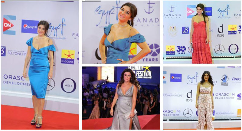 صورة فستان غادة عادل يثير الجدل في مهرجان الجونة السينمائي .. شاهد الصور