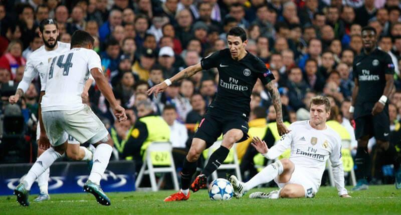 القنوات المفتوحة الناقلة لمباراة باريس سان جيرمان ضد ريال مدريد اليوم مع موعد المباراة في دوري أبطال أوروبا