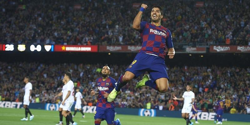 نتيجة مباراة برشلونة | أهداف فوز برشلونة 4 -0 علي إشبيلية في الدوري الاسباني