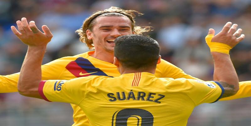 نتيجة مباراة برشلونة   ملخص أهداف فوز برشلونة 3 - 0 علي إيبار في الدوري الاسباني