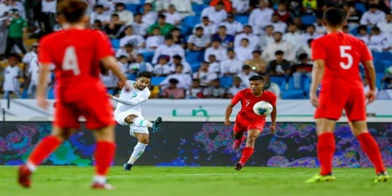 ملخص أهداف فوز السعودية 3-0 علي سنغافورة في تصفيات اسيا