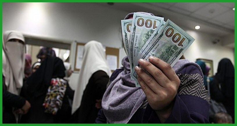 رابط فحص المنحة القطرية 100 دولار المخصصة 40 الف أسرة في غزة