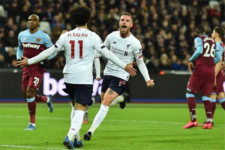 نتيجة مباراة ليفربول ووست هام يونايتد مع اهداف المباراة اليوم في الدوري الإنجليزي