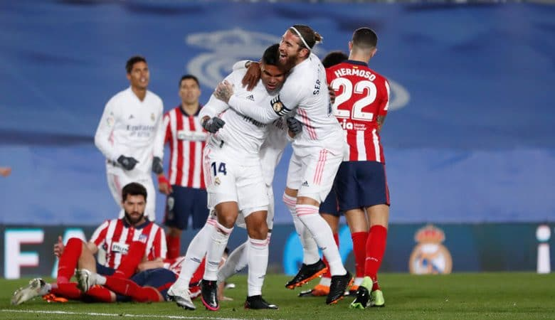 نتيجة مباراة ريال مدريد و أتلتيكو مدريد اليوم في الدوري الاسباني