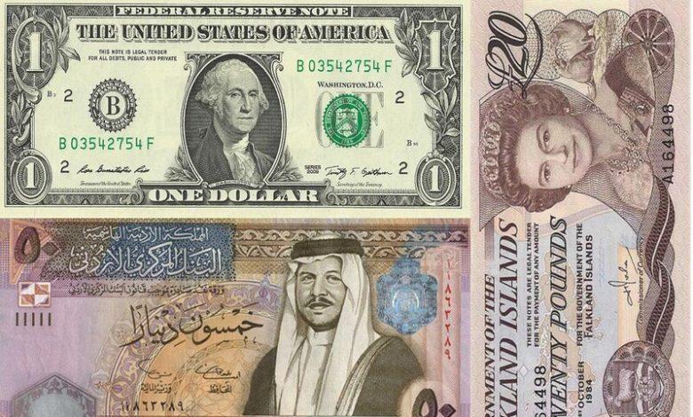 سعر صرف العملات العربية والاجنبية